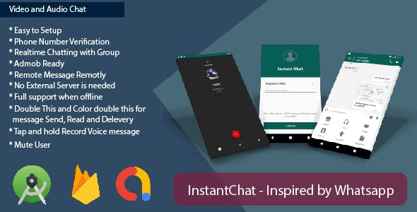 InstantChat - Chat App Inspired by Whatsapp
