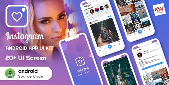android instagram Uikit app - Ui Template