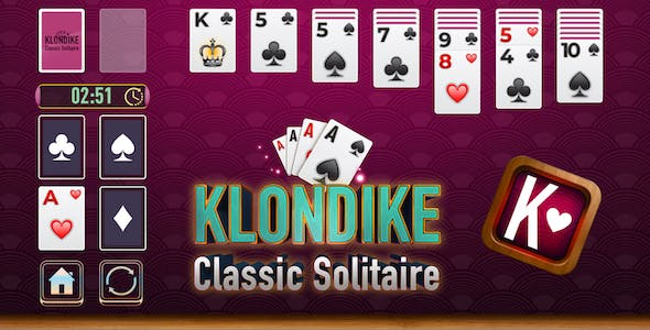 Classic Klondike Solitaire Card Game - Construct3, HTML5 - (Android, iOS)