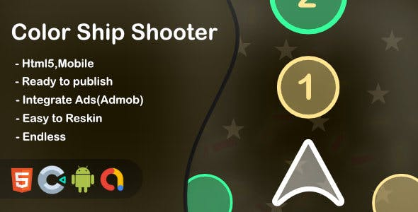 Color Ship Shooter(Html5 + Construct 3 +Mobile)