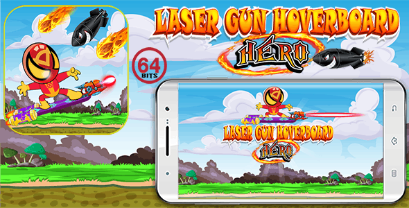 Laser Gun Hoverboar  64 Bits (Android Studio)- Without any ads