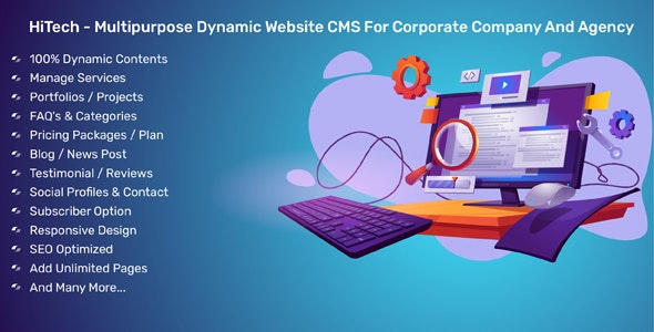 HiTech - Multipurpose Dynamic Website CMS For Corporate Company And Agency