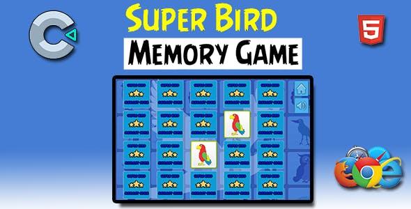 Super Birds Memory - HTML5 Mobile Game