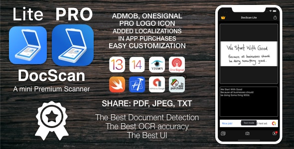 [VS] DocScan - A mini andPowerful mobile scanner for iOS (Admob, IAP, Push Notifications) - CodeCanyon Item for Sale