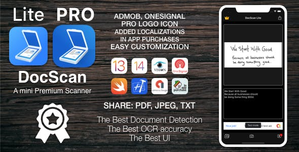 [VS] DocScan - A mini and Powerful mobile scanner for iOS (Admob, IAP, Push Notifications)