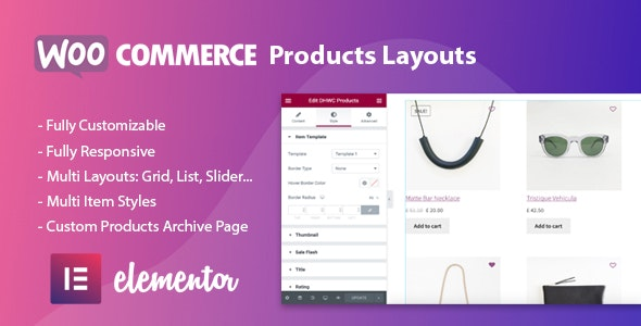WooCommerce Products Layouts for Elementor - CodeCanyon Item for Sale