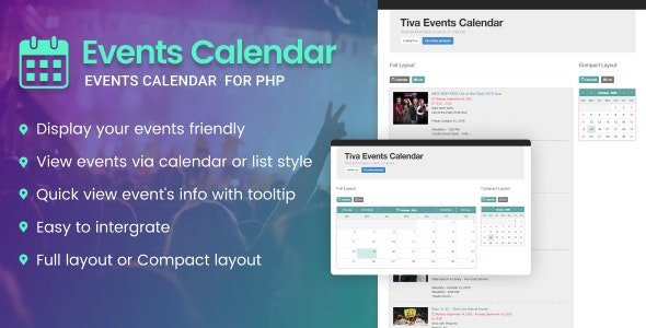 Tiva Events Calendar For PHP - CodeCanyon Item for Sale
