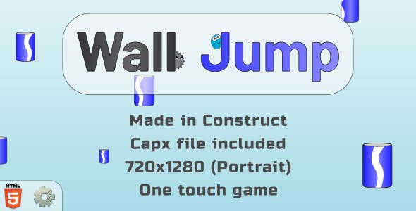 trezeWallJump - HTML5 Casual Game