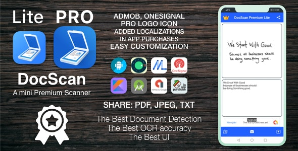 [VS] DocScan - A mini and Powerful mobile scanner for Android (Admob, IAP, Push Notifications) - CodeCanyon Item for Sale