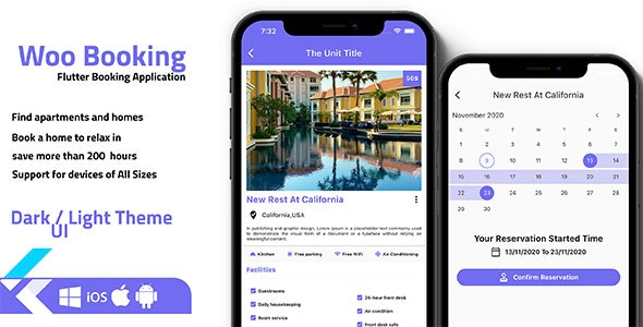 Flutter Booking Application - Ios and android