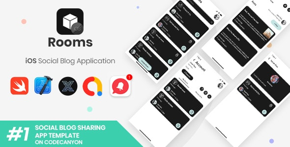 Rooms | iOS Social Blog Application [XServer] - CodeCanyon Item for Sale