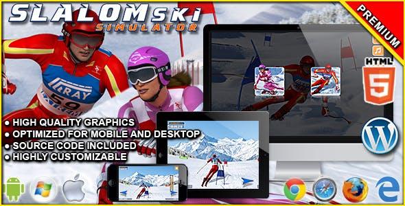 Slalom Ski Simulator - HTML5 Sport Game