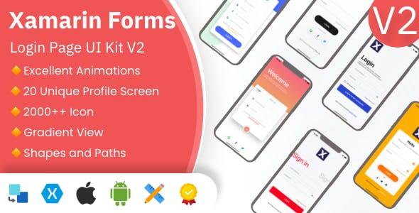 Xamarin XamUI Login Pages UI Kit 2 | Xamarin Forms