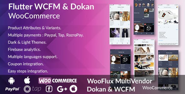 Flutter WooCommerce Android & Ios Multivendor App - Flutter WooCommerce WCFM & WooCommerce Dokan App