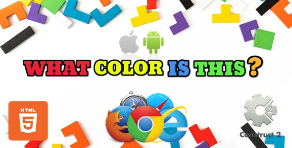 What Color Is This? for kids - Educational Game - HTML5 (.Capx) - CodeCanyon Item for Sale