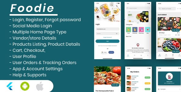 Foodie - Flutter Grocery, Food, Pharmacy, Store Delivery Mobile App - CodeCanyon Item for Sale