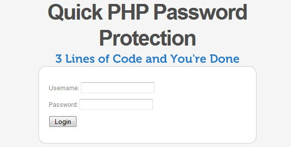 Quick PHP Password Protection (Login System) - CodeCanyon Item for Sale