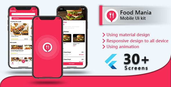 Food Delivery with Delivery Boy Flutter UI Kit
