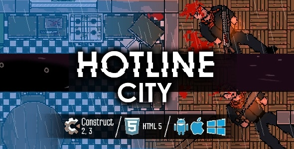 Hotline City - HTML5 Shooter Game - CodeCanyon Item for Sale