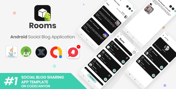 Rooms | Android Social Blog Application [XServer] - CodeCanyon Item for Sale