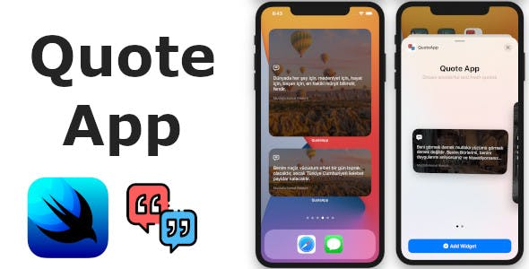 Quote App | Full SwiftUI iOS Application and Widget