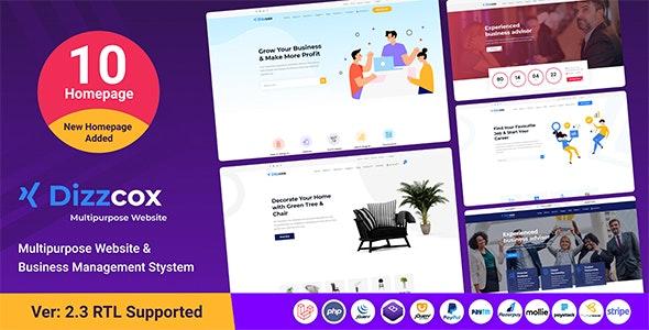 Dizzcox - Multipurpose Website  & Business Management System CMS - CodeCanyon Item for Sale