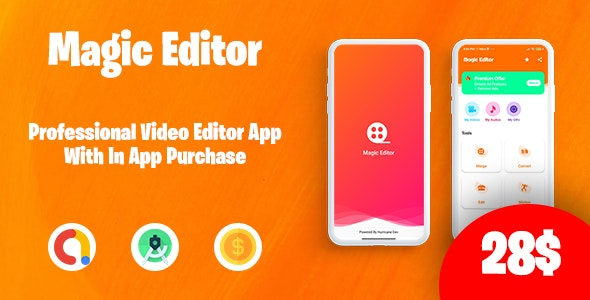 Magic Editor - Pro Video Editor with in-app purchase - CodeCanyon Item for Sale