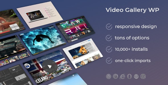 Video Gallery Wordpress Plugin /w YouTube, Vimeo, Facebook pages - CodeCanyon Item for Sale