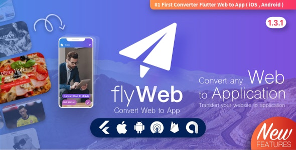FlyWeb for Web to App Convertor Flutter + Admin Panel - CodeCanyon Item for Sale