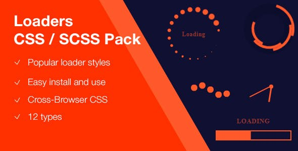 Loaders CSS/SCSS pack
