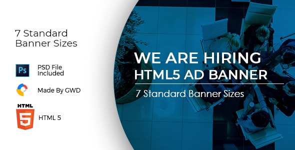 Animated Html5 We Are Hiring Ad Banners Template - CodeCanyon Item for Sale