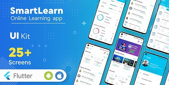 SmartLearn - Online Learning app | Exam Preparation app | UI Kit - CodeCanyon Item for Sale