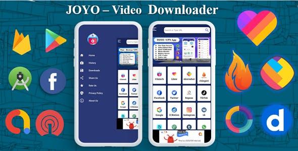 JOYO - Video Downloader App | Facebook Ads | Admob Ads | Slider Banner Image | Push Notification