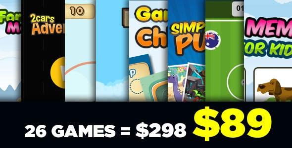 Black Friday - Mega Bundle 26 Games - HTML5 Games