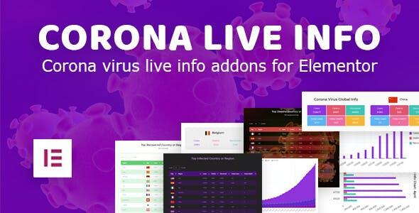 Corona Live Info: Addon for Elementor WordPress Plugin