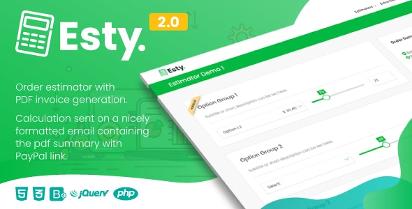 Esty | Order Estimator and PDF Summary Generator - CodeCanyon Item for Sale