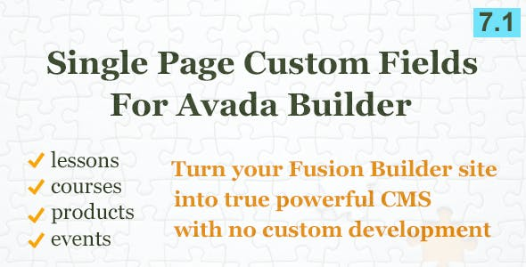 Custom Fields Element for Avada Builder