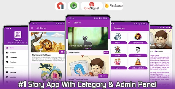 Online Stories App With Category - Admin Panel - Admob - CodeCanyon Item for Sale