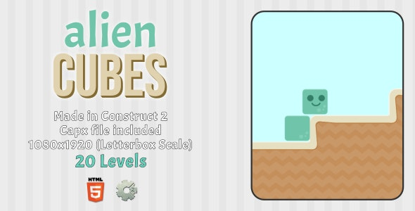 Alien Cubes - HTML5 Casual Game - CodeCanyon Item for Sale