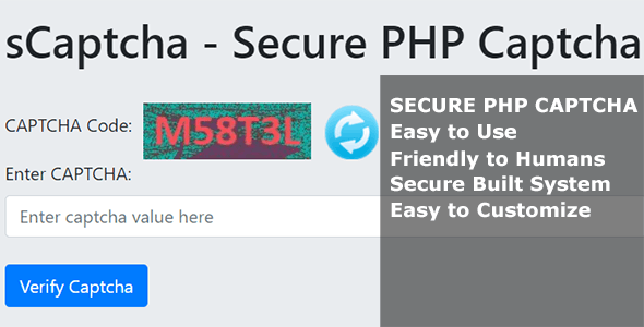 sCaptcha - Secure PHP Captcha - CodeCanyon Item for Sale