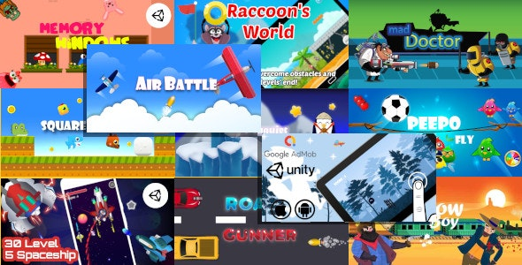 11 Unity Games in 1 Bundle with 55% OFF | Shooter and Casual Unity Projects for Android and iOS - CodeCanyon Item for Sale