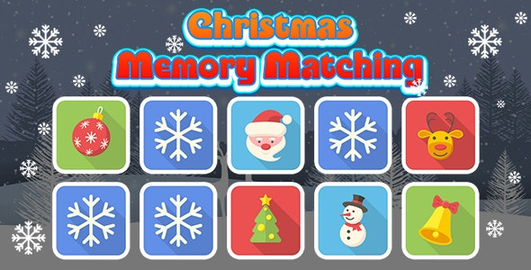 Christmas Memory Matching (CAPX and HTML5) Christmas Game - CodeCanyon Item for Sale