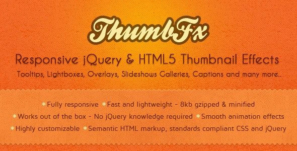 ThumbFx - Responsive jQuery Thumbnail Effects - CodeCanyon Item for Sale