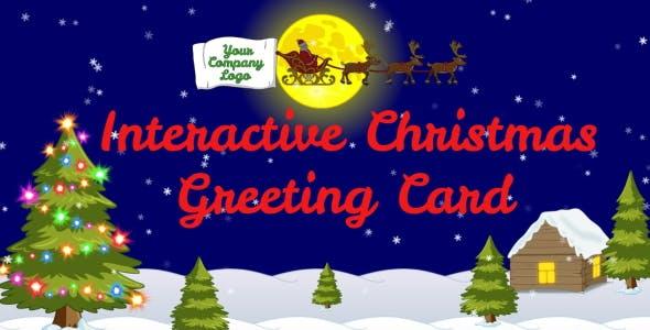 Interactive Christmas Greeting Card