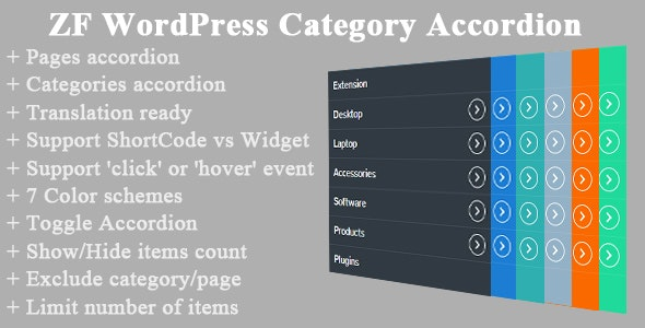 ZF WordPress Category Accordion - CodeCanyon Item for Sale
