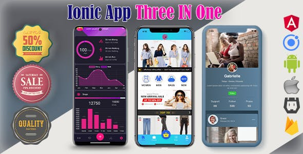 Ionic 5 App Three In One(android+ios+web) Full App