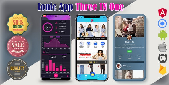Ionic 5 App Three In One(android+ios+web) Full App - CodeCanyon Item for Sale