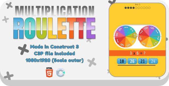Multiplication Roulette - HTML5 Educational Game
