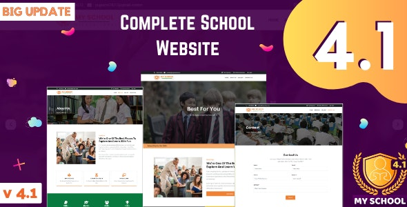 Complete School Website with Online Admission and Admin Panel - CodeCanyon Item for Sale