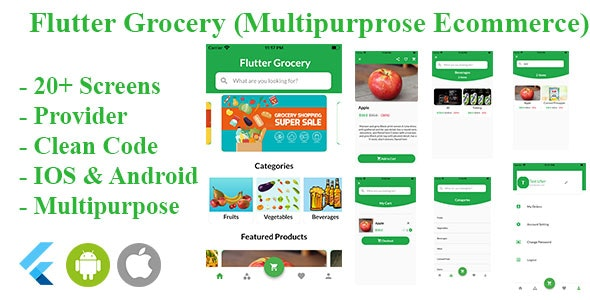 Flutter Grocery ( Multipurpose e-commerce) - CodeCanyon Item for Sale